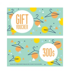 Gift voucher template Both sides Envelope size vector image vector image