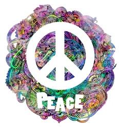 Hippie style ornamental vector