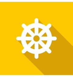 Wheel of Dharma icon flat style vector image