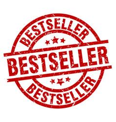 Bestseller round red grunge stamp vector