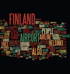 finland text background word cloud concept vector image