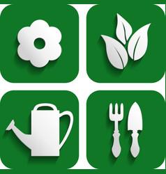garden button vector image vector image