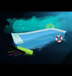 grunge swimpool design vector image vector image
