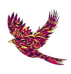 hand drawn zentagle colorful of bird High details vector image vector image