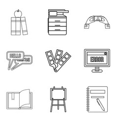 journal icons set outline style vector image vector image