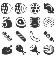 meat products icon in silhouette design vector image vector image