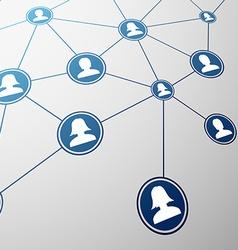 Social network Stock vector image vector image