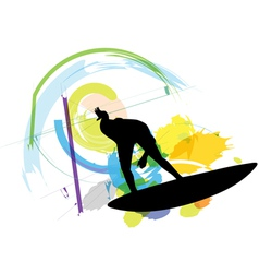 Surfer vector image vector image