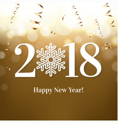 2018 new year postcard vector image