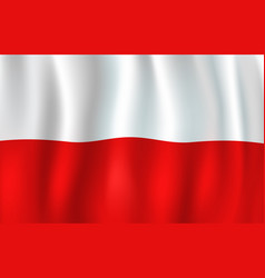 3d flag of poland polish national symbol vector image