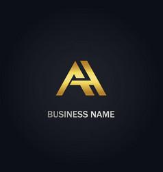 A initial company gold logo vector