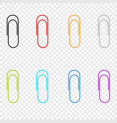 A selection of colored icons clip located vector