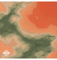 Abstract Landscape Background Mosaic 3d vector