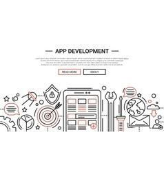 App Development - line design website banner vector image