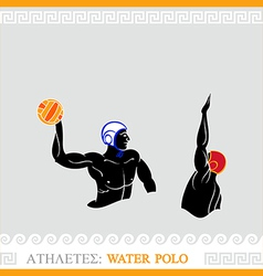 Athlete Water polo players vector image