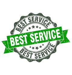 best service stamp sign seal vector image