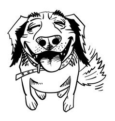 Cartoon image of happy dog vector
