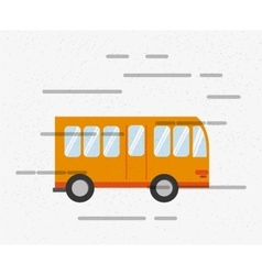 City bus icon vector