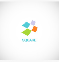 colored square tech logo vector image