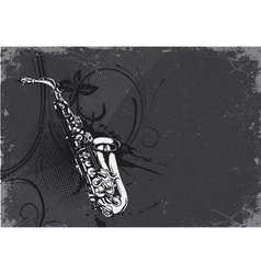 concert poster with saxophone vector image