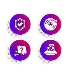Confirmed vinyl record and question mark icons vector