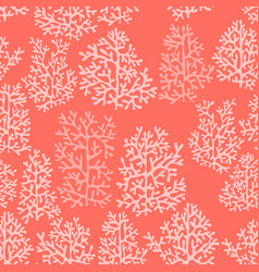 corals bright red seamless pattern vector image