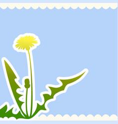 dandelion flower on a beige background vector image