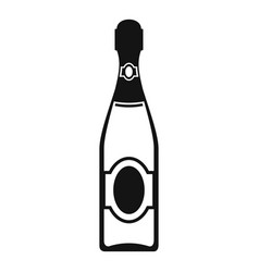 Dry champagne icon simple style vector