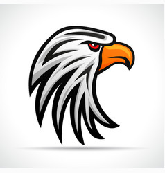 eagle head color design vector image