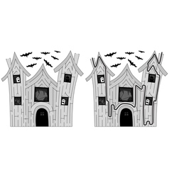 Easy haunted house maze vector image