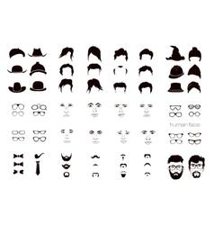 Elements of a person face men vector