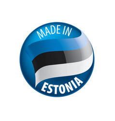 Estonia flag on a white vector