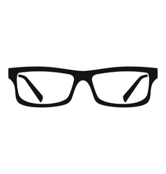 Eye glasses icon simple style vector
