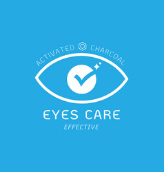Eyes care effective benefits logo of activated vector