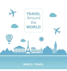 Famouse places Travel arround the world vector