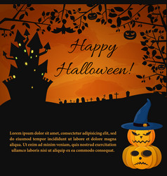 festive halloween party poster vector image