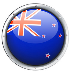 Flag of new zealand on round frame vector