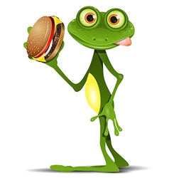 Frog and cheeseburger vector