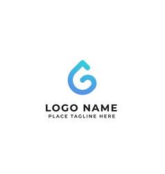 G letter logo design water drop concept icon vector