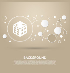 Game cube icon on a brown background with elegant vector