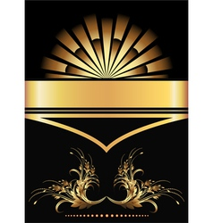 golden ornament poster vector image
