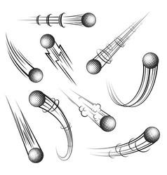Golf symbols movement set vector