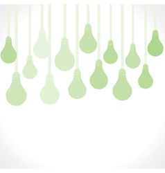 green bulb background vector image