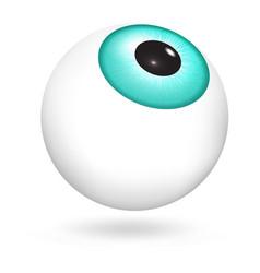 Green eyeball icon realistic style vector