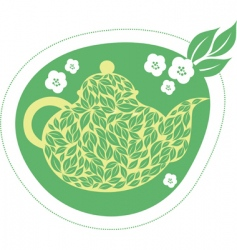 green jasmine tea vector image