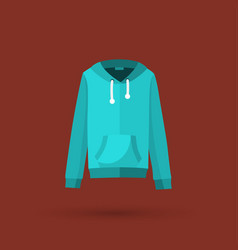 Hooded sweater vector