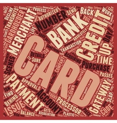 How Credit Cards Work text background wordcloud vector