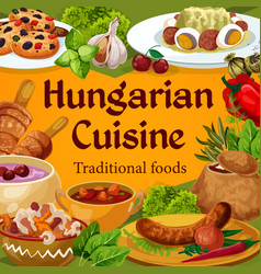 Hungarian cuisine hungary dishes poster vector