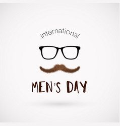 International men day poster vector