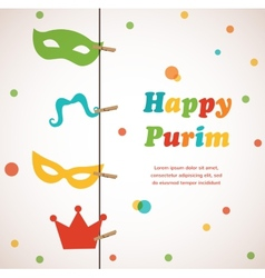 Jewish holiday Purim set Happy Purim vector